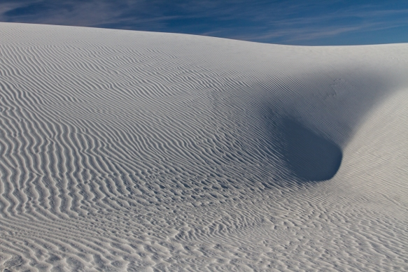 White Sands National Monument belly button dune