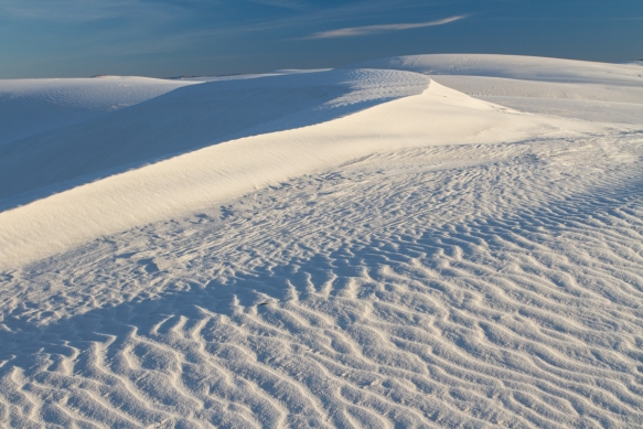 White Sands National Monument late in day