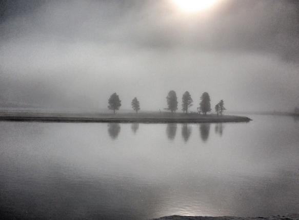 fog on river in Hayden