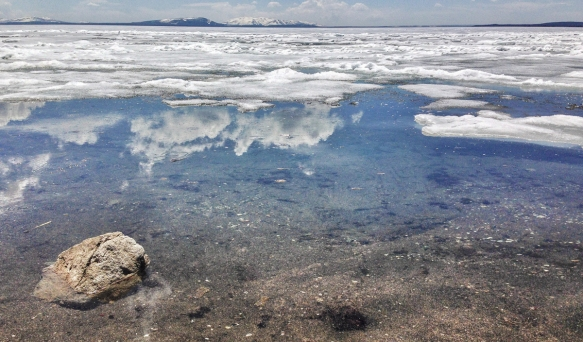 ice at lakeshore