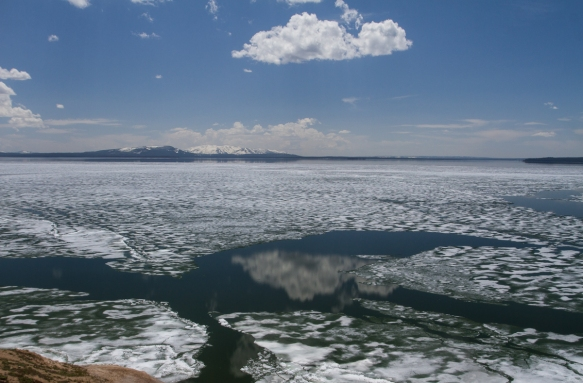 ice on Yellowstone Lake