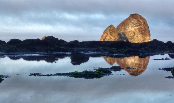 Sea stacks at sunrise