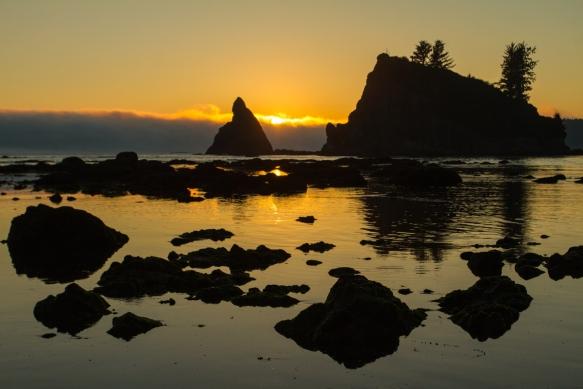 Sea stacks at sunset 1