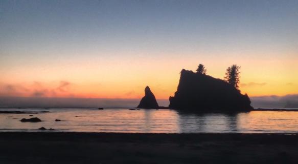 Sea stacks at sunset 3