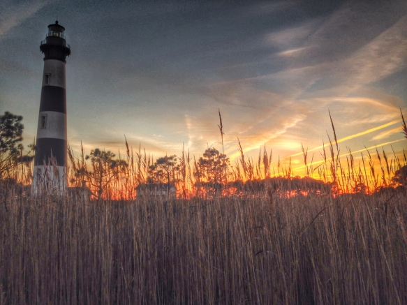 Bodie Island Lighthouse at sunset