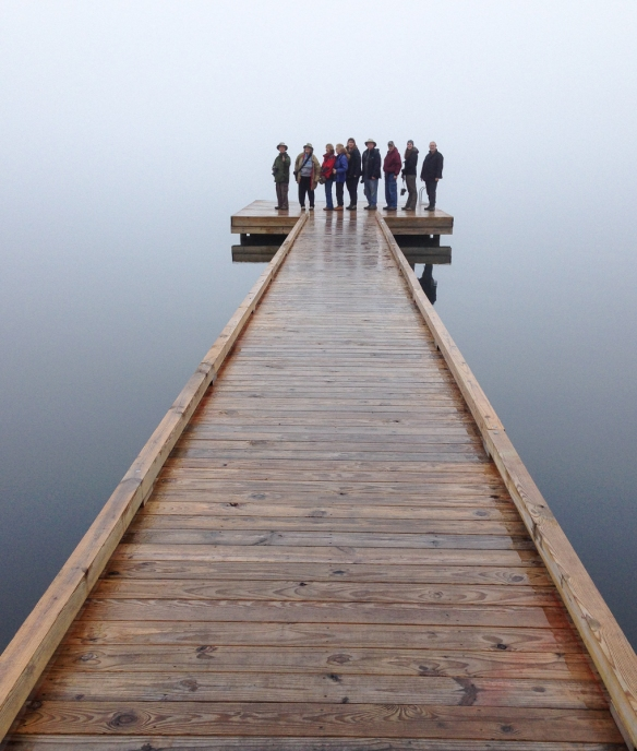 Group on dock at Lake Phelps