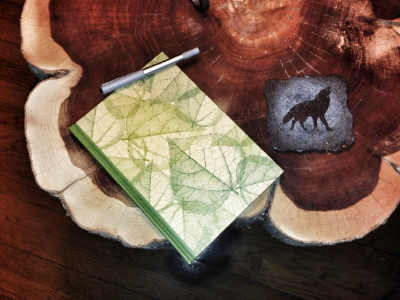 Journal on table