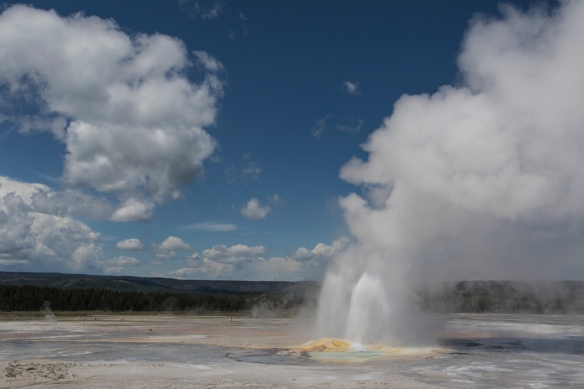 Sky with Clepsydra Geyser