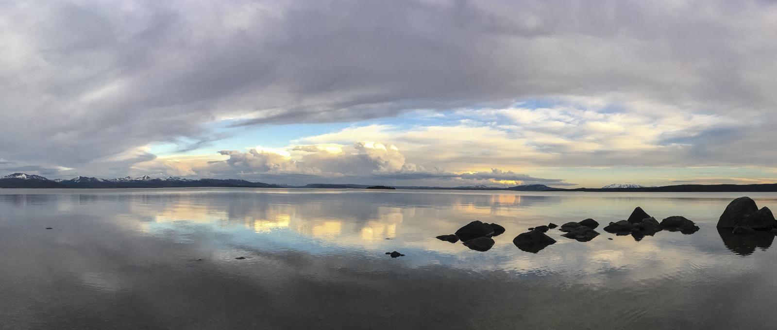 Lake pano at sunset