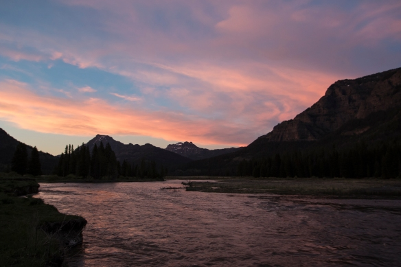 Sunset on Soda Butte Creek
