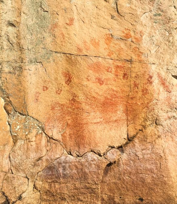 Hand prints petroglyphs