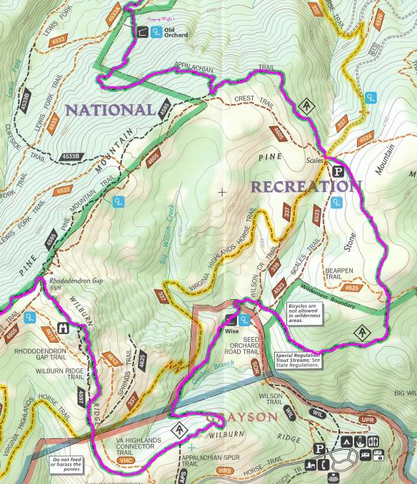mount-rogers-map-with-our-route