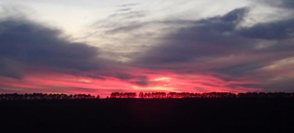 red sky last night