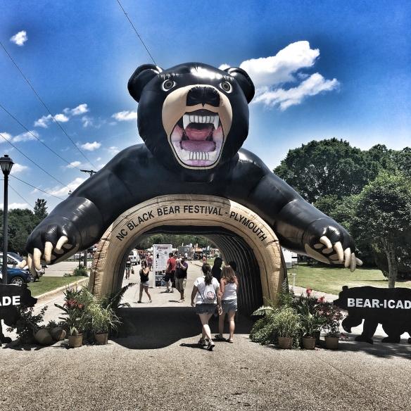 Bear festival entrance