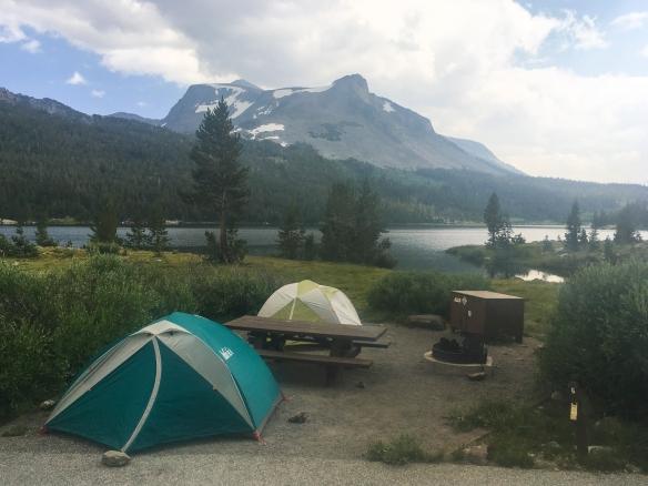 campsite outside park