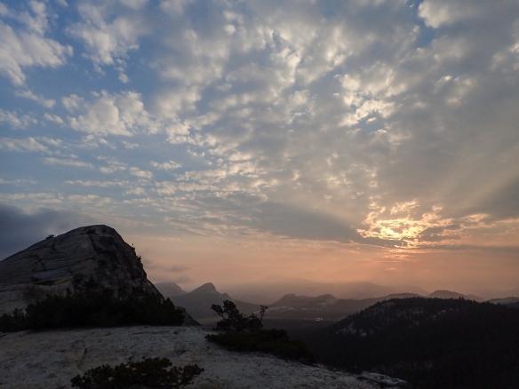 Lembert Dome at sunset