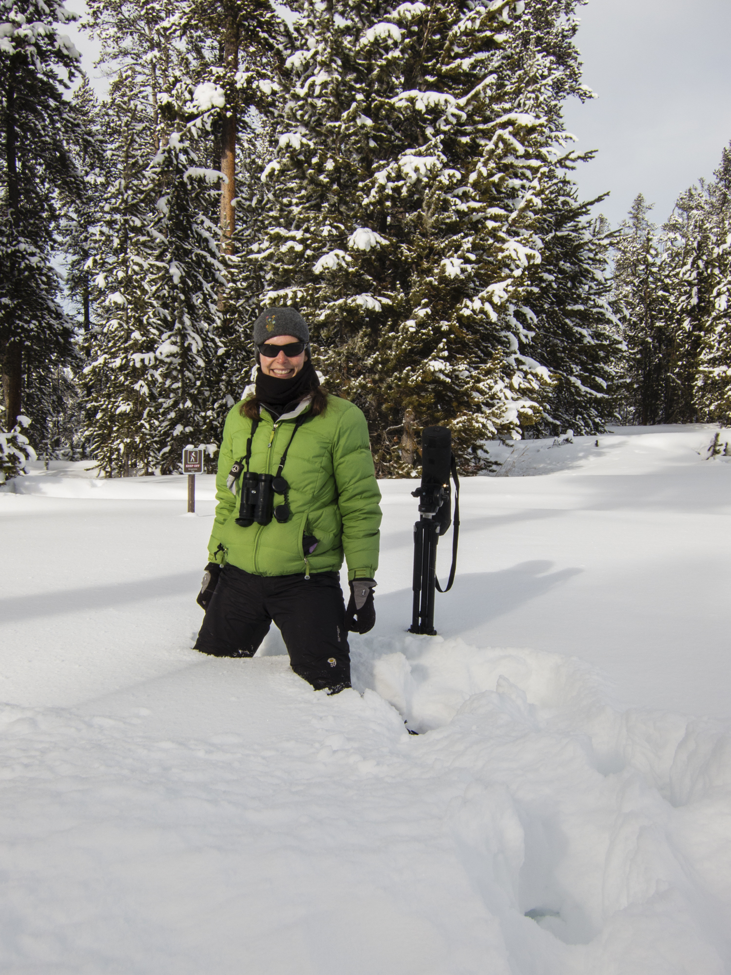 Melissa in deep snow at Canyon