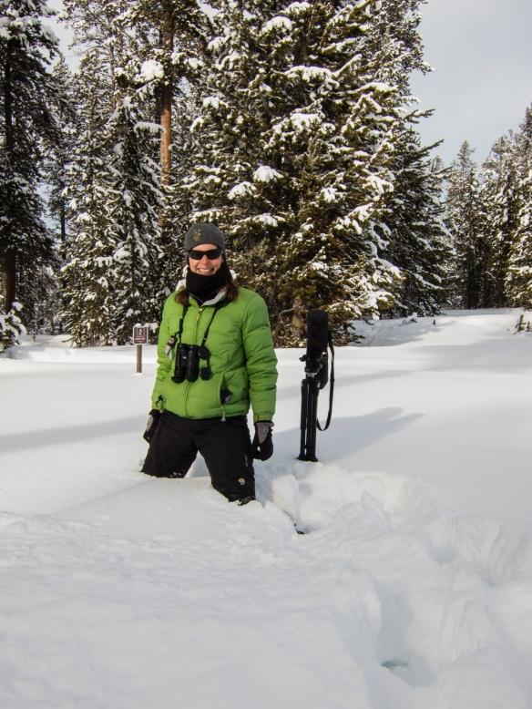 Melissa in deep snow at Canyon