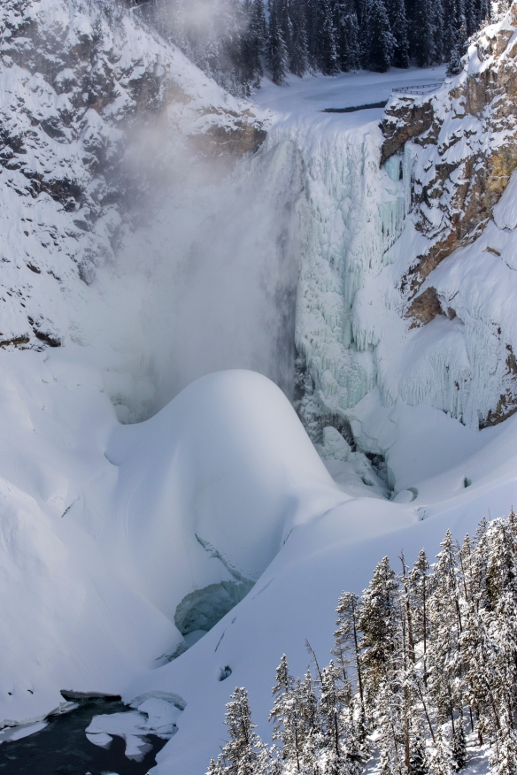 Lower Falls and ice mountain