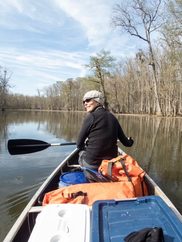 Melissa in canoe