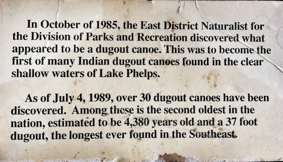 Exhibit sign about dugout canoes