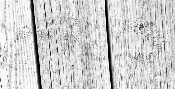 footprint on wood boards